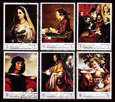 Briefmarken Yemen 1968 Used C.t.o Mi.503/08 Florentinische Kunstwerke Florentine Artworks Mit Den Modernsten GeräTen Und Techniken