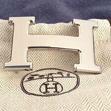 HERMES Authentique et superbe boucle de ceinture palladium lisse - Neuve