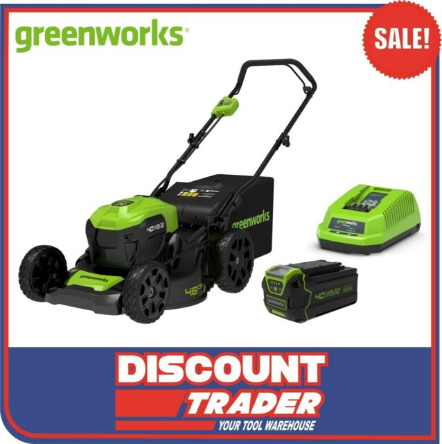 "Greenworks 40V 4.0Ah Lithium-Ion Cordless Brushless 18"" Lawn Mower Combo Kit"
