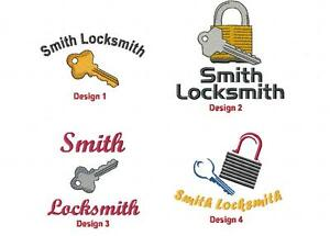 6-New-Shirts-Embroidered-Free-4Ur-Locksmith-Business-Company
