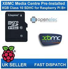 8GB Micro SD Card Class 10 Media Centre with OpenElec & XBMC for Raspberry Pi B+