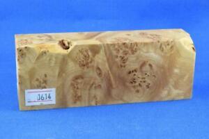 Stabilized-Maple-Burl-Knife-Scales-Handle-Block-Pen-1614