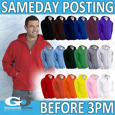 Gildan Zipped Hooded Sweatshirt Men Women Hoodie Work School Wear Uniform 18600 SorgfäLtige FäRbeprozesse