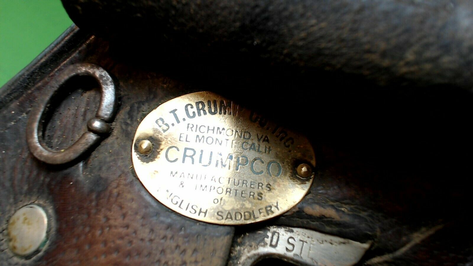 VINTAGE -- Anglais-Selle-Cuir-Made in England -- crumpco -- Springtree