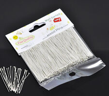 "1 Packet(300PCs) Well Sorted Silver Plated Head Pins 4cm(1-5/8"") SP0596"