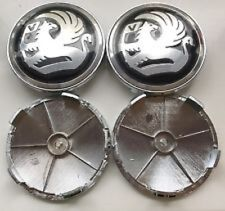 Set of 4 Black Vauxhall 68MM BY 65MM BMW Style Alloy Wheel Badges Center Caps