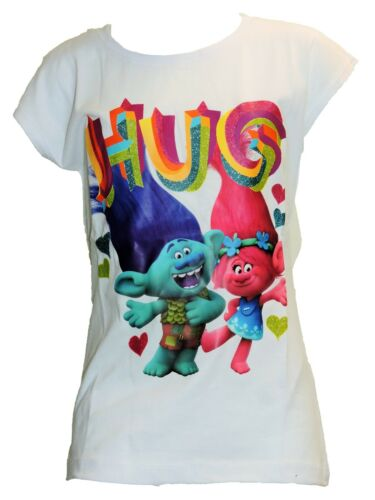 Girls Summer Trolls Short Sleeve Cotton T-Shirt Age 4 Years up to 12 years
