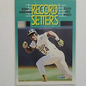 Rickey Henderson 1992 Fleer Record Setter #681