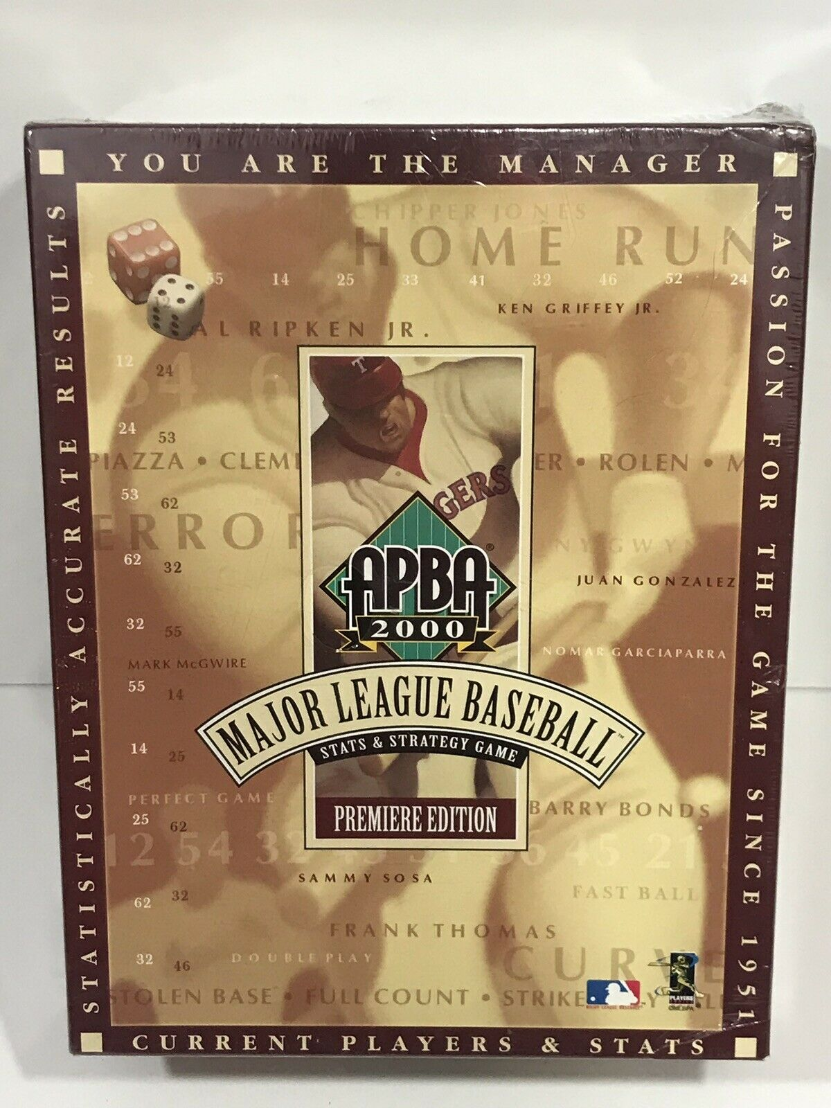Nouveau  APBA Baseball APBA Baseball (édition 2000) Box Stats & startegy Game  expédition rapide à vous