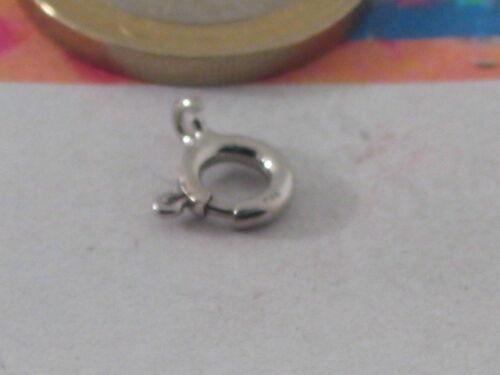 chiusure tonde in argento 925 bianco rodio e placcato oro scegli  misura colore