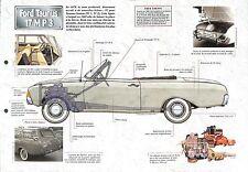 Ford Taunus 17 M P 3 Coupe Berline Break Turnier USA 1961 Car Auto FICHE FRANCE