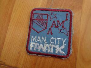 Vintage 70'S Manchester City 'I Am Ein Fanatic' Sew Auf Tuch Abzeichen
