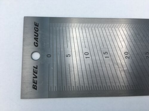 iGAGING 300mm center rule and angle gauge