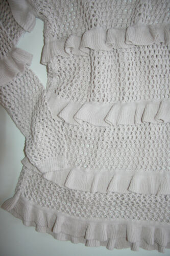Long Xl Strick Dk Sky Cream Shirt Powder Pull Neu Langarm Taille ABP5Cq