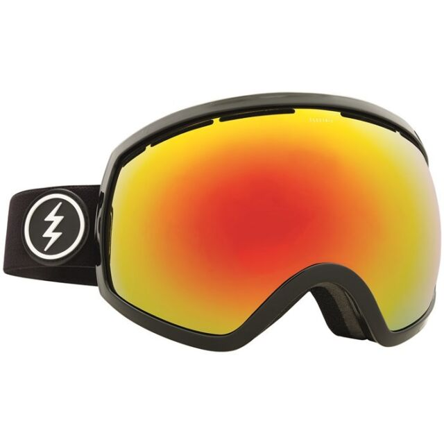 Electric Visual Eg2 Black Red Snowboarding Goggles Brose Red Chrome For Sale Online