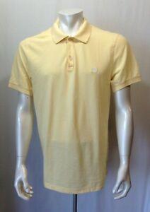 Banana-Republic-Men-039-s-Size-Large-Yellow-Short-Sleeve-Cotton-Pique-Polo-Shirt