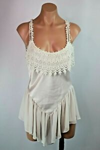 c5f4155bb582 Image is loading Vtg-80s-White-LACE-TEDDY-Negligee-Babydoll-Chiffon-
