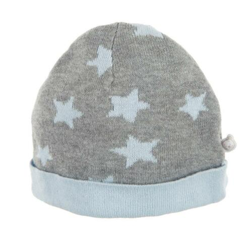 NOUKIES Strickmütze grau Sterne hellblau mit Kaschmire Gr.56-74 NEU
