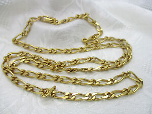 VINTAGE ESTATE JEWELRY MONET GOLD TONE CURB STYLE LINK CHAIN