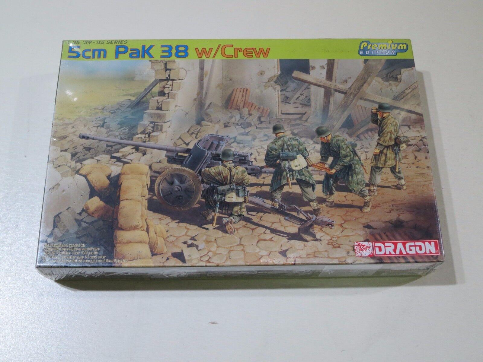 DRAGON 1 35 5cm Pak 38 w Crew Model Kit NEW Premium Edition '39-'45 Series