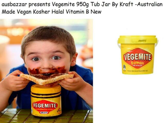New Vegemite 950g Tub Jar By Kraft -Australian Made Vegan Kosher Halal Vitamin B