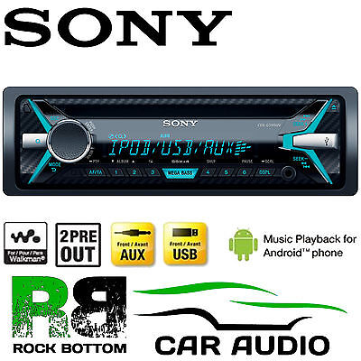 Peugeot 306 Sony CDX-G1200U CD MP3 USB AUX-in Ipod Iphone Coche Radio Estéreo Kit2