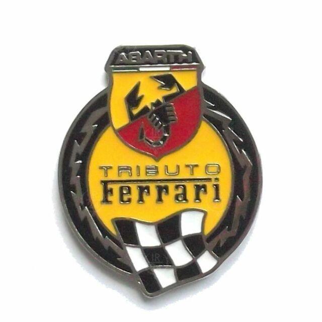 BADGE FIAT 500 PER ABARTH TRIBUTO FERRARI LOGO LATERALE