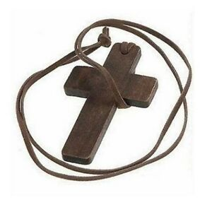 NEW-Wood-Cross-Pendant-Jesus-God-Charm-Leather-Necklace-Natural-Jewelry-Gift