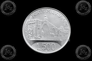 PONTE MILVIO ITALY 500 LIRE 1991 KM# 147 UNC SILVER Commemorative coin