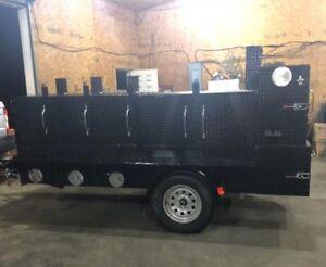 Shish-Kebob-BBQ-Smoker-3-Grills-Trailer-Food-Truck-Mobile-Catering-Restaurant