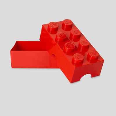 LEGO Lunch Box Legostein ROT - LEGO STORAGE Lunchbox RED
