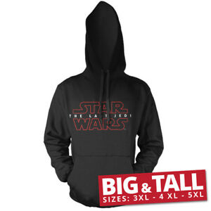 Logo The Star con ufficiale Jedi cappuccio 4xl Wars licenza 5xl 3xl Black Felpa con Last HfUwI0q