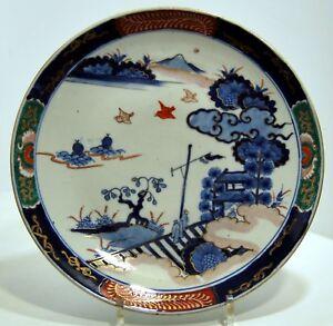 Plano-Porcelana-Imari-Japon-Finxixe-Debxxe-Paisaje-30-5cm