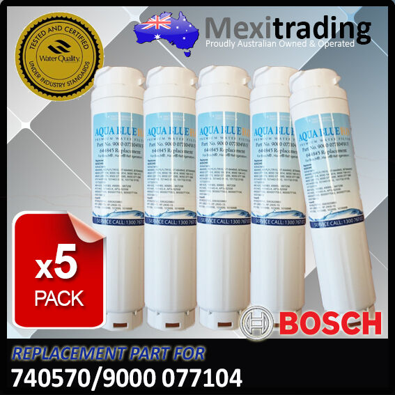 5 x BOSCH ULTRACLARITY 9000-077104, 644845, 740570 AQUA bleu H2O REPLACEHommesT