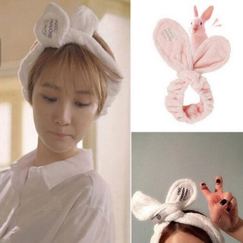 Cute Big Rabbit Ear Soft Serviette cheveux bande Wrap Bandeau pour Bain Spa Make Up Cpo