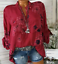 Women-039-s-Long-Sleeve-Casual-V-Neck-Tops-Blouse-Summer-Loose-Floral-Tee-T-Shirt thumbnail 11