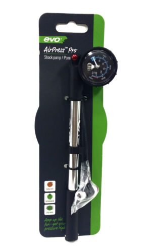 EVO Airpress Pro Mountain Bike Shock//Suspension Pump Silver 400 PSI SP-003AG
