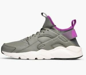 NIKE-AIR-HUARACHE-RUN-ULTRA-SE-DARK-STUCCO-GREEN-875841-003-UK-8-9-10