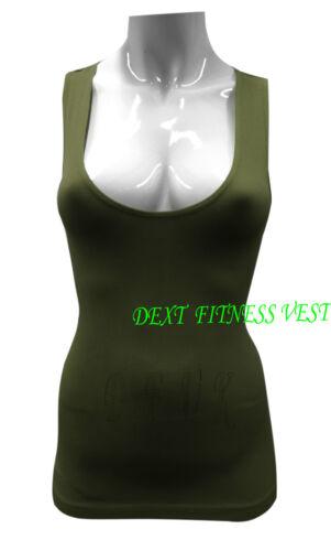 Donna senza maniche a costine Reggiseno Sportivo Muscle Vest Women/'s Retro Sportivo Top Taglia Unica