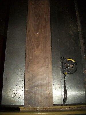 "1pc Walnut Lumber Wood Air Dried Board 1 7/16"" Thick Lot 129x Carving Block Flat"