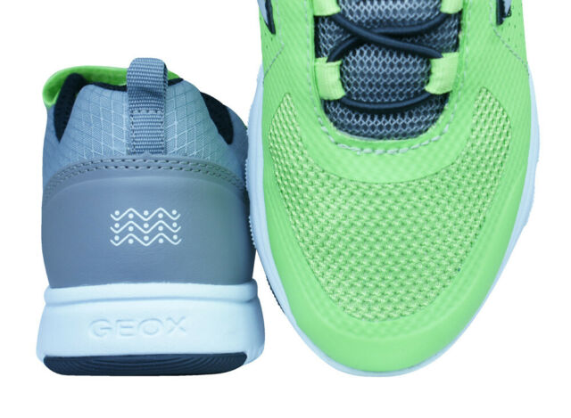 Geox J Xunday B Boys Trainers Sports Athletic Casual Shoes Bright-Lime-Green