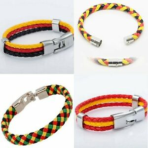 Armband-WM-EM-Fan-geflochten-Schmuck-Deutschland-Frankreich-Spanien-Armbaender