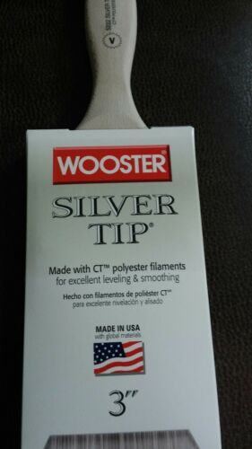 """Wooster 3/"""" Silver Tip Varnish Lot of 6 Paintbrushes 5222-3"""