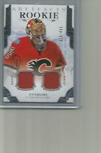 2017-18-UD-Artifacts-Materials-Silver-Rookie-Jon-Gillies-Dual-Jersey-428-499