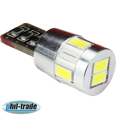 24V weisse T10 w5w CANBUS Lampe 6 x 5630-SMD WEISS LKW Innenraum Beleuchtung LED