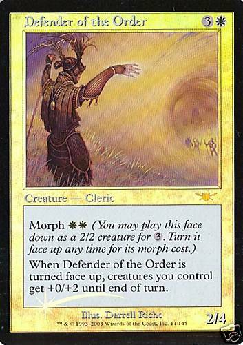 Foil MTG Defender of the Order Legions NM