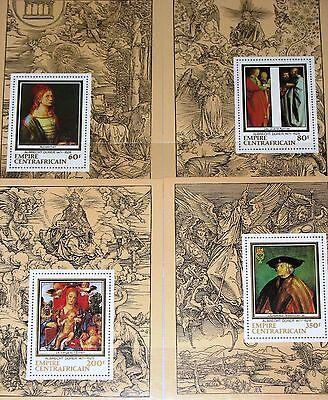 1978 572-75 345-48 Deluxe Dürer Paintings Gemälde Mnh GroßE Sorten Motive Kunst & Kultur Car Central African Rep