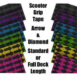 SCOOTER-GRIP-TAPE-ARROW-amp-DIAMOND-STANDARD-LENGTH-or-FULL-DECK-LENGTH