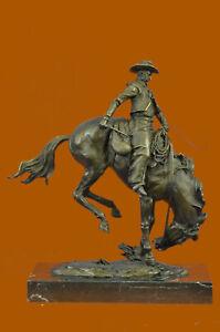 Remington-Bronco-Buster-bronze-sculpture-finest-USA-lost-wax-casting-Figurine