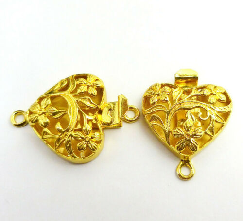 1 PC COPPER BALI BOX CLASP ANTIQUE STERLING SILVER PLATED 18K GOLD PLATED 212